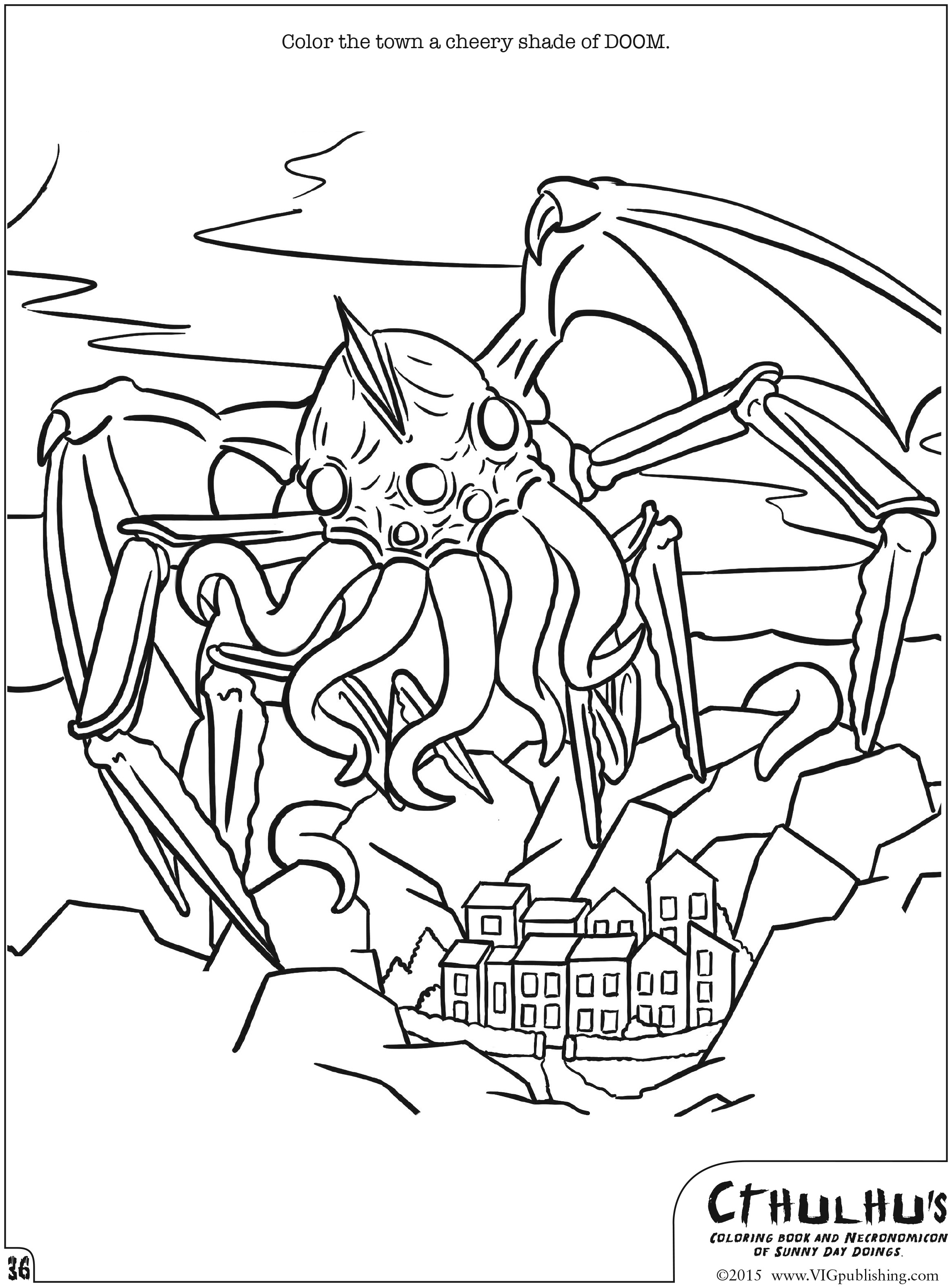 cthulhu u0026 39 s coloring book and      review