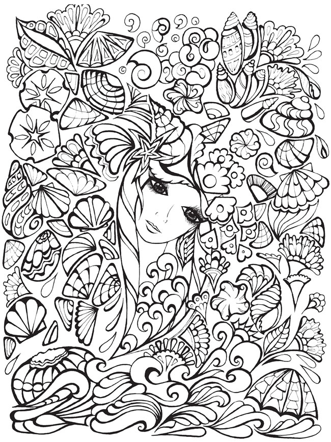 Fanciful Faces By Miryam Adatto Review Gt Coloring Books