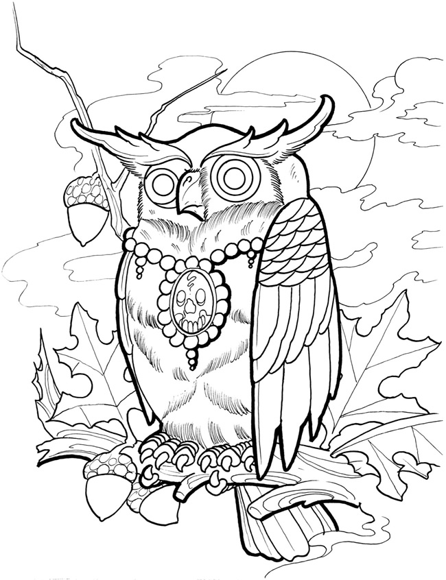 Paisley mandala coloring page sample from Dover Publications ... | 846x650