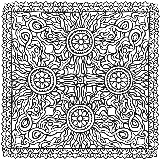 square mandala coloring pages - photo#5