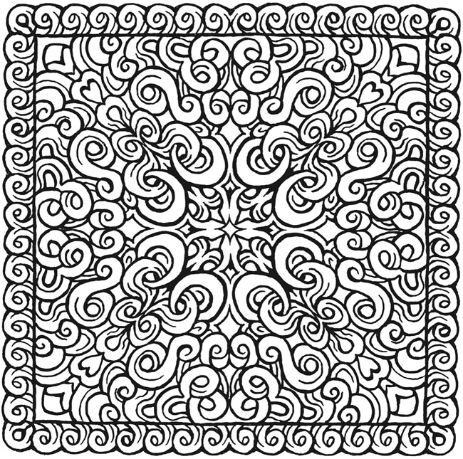 square mandala coloring pages - photo#3